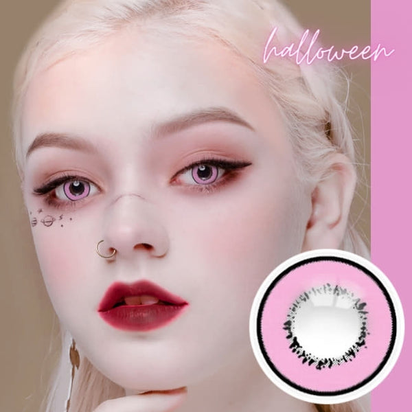 Cosplay UV Halloween Pink Contacts | Anime Lenses