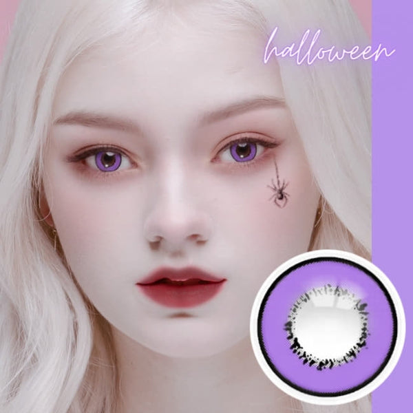 Cosplay UV Halloween Violet Contacts