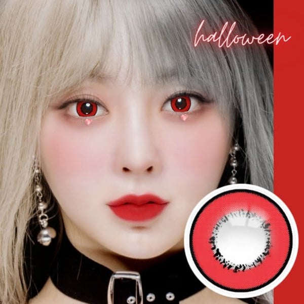 Cosplay UV Halloween Red Contacts