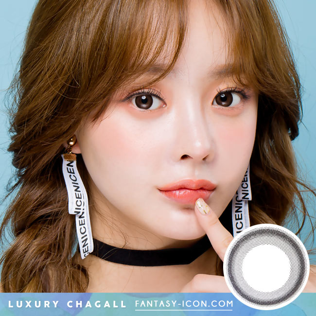 Colored Contacts for Hyperopia Luxury Chagall Black - farsightedness model