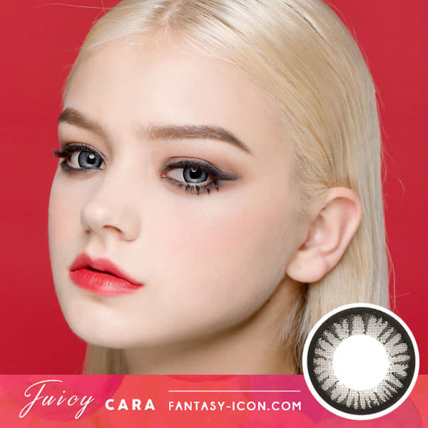 Colored Contacts for Hyperopia Juicy Cara Grey - farsightedness model