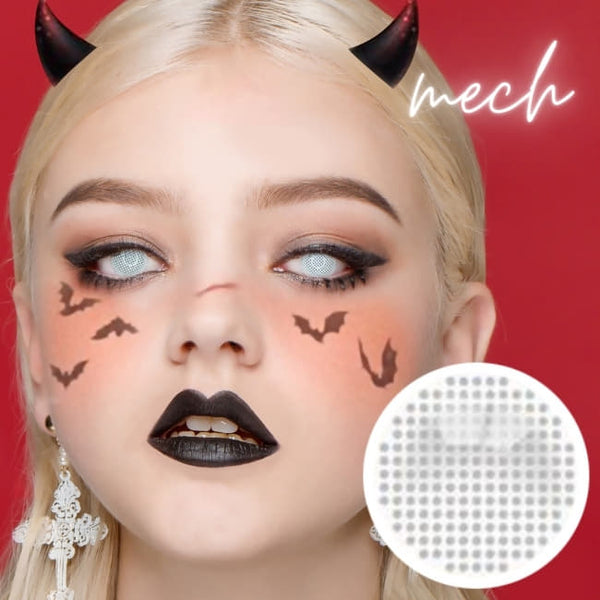 Halloween Mesh Cosplay white Contacts