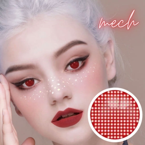 Halloween Mesh Cosplay Red Contacts | Anime Lenses