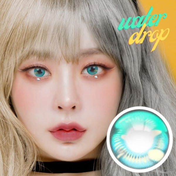 Water Drop Cosplay Green Contacts | Aqua Lenses | Coscon Anime Lenses