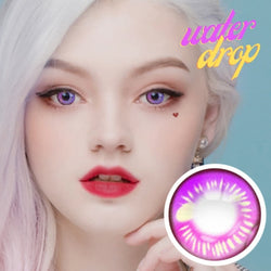 Water Drop Cosplay Violet Contacts | Purple Lenses  | Coscon Anime Lenses