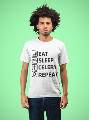 EAT SLEEP CELERY REPEAT PREMIUM SHIRT
