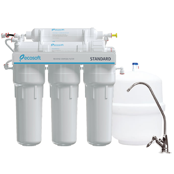 5 Stage Reverse Osmosis Water Filter System with Pump, RO, Ecosoft Standard