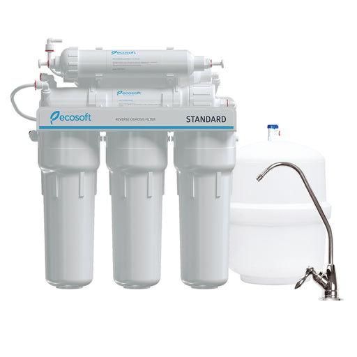 6 Stage Reverse Osmosis Water Filter System with Mineralization, RO, Ecosoft Standard