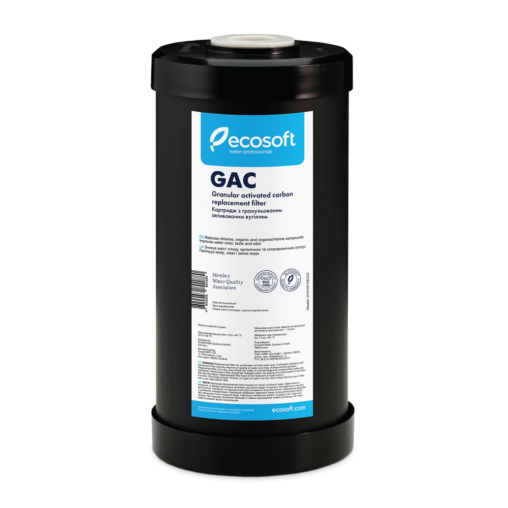 "Ecosoft Granular Activated Carbon Replacement Filter 4.5""×10"""