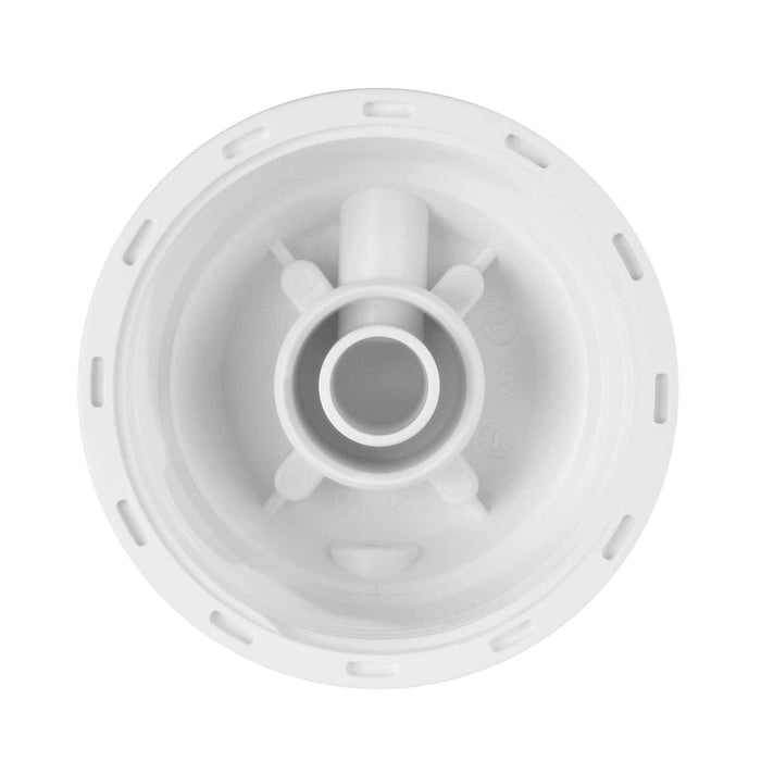 "White 2.5"" X 10"" Filter Housing and Female Cap with 1/4"" Inlet & Outlet"