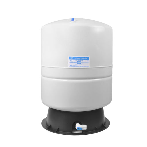 Brio White 14 GAL. Metal Tank for RO Water Filter Systems