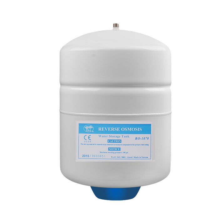 Brio White 1/2 GAL. Metal Tank for RO Water Filter Systems