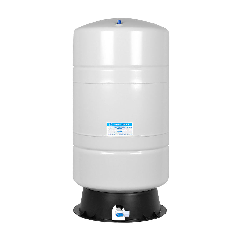 Brio White 28 GAL. Metal Tank for RO Water Filter Systems