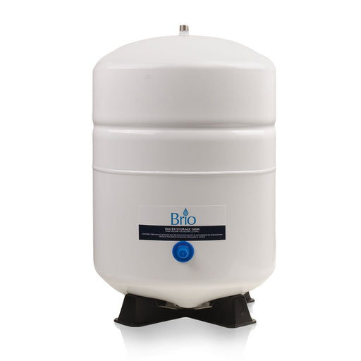 Brio White 3.2 GAL. Metal Tank for RO Water Filter Systems