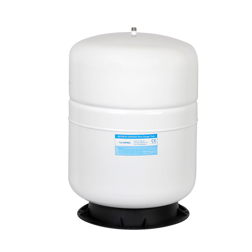 Brio White 5 GAL. Metal Tank for RO Water Filter Systems