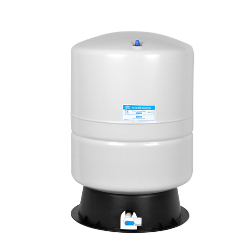 Brio White 9 GAL. Metal Tank for RO Water Filter Systems