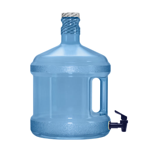 2 Gallon Polycarbonate Plastic Reusable Water Bottle with Screw Cap and Valve