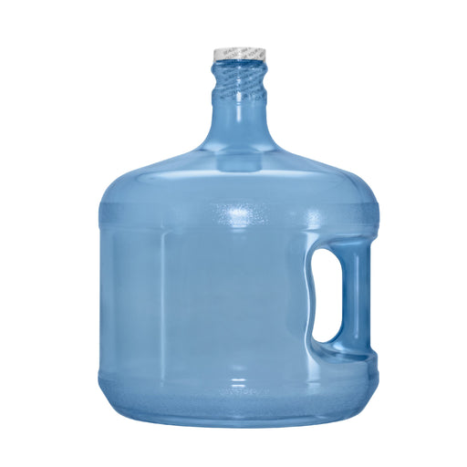 3 Gallon Polycarbonate Plastic Reusable Water Bottle with Handle and Screw Top