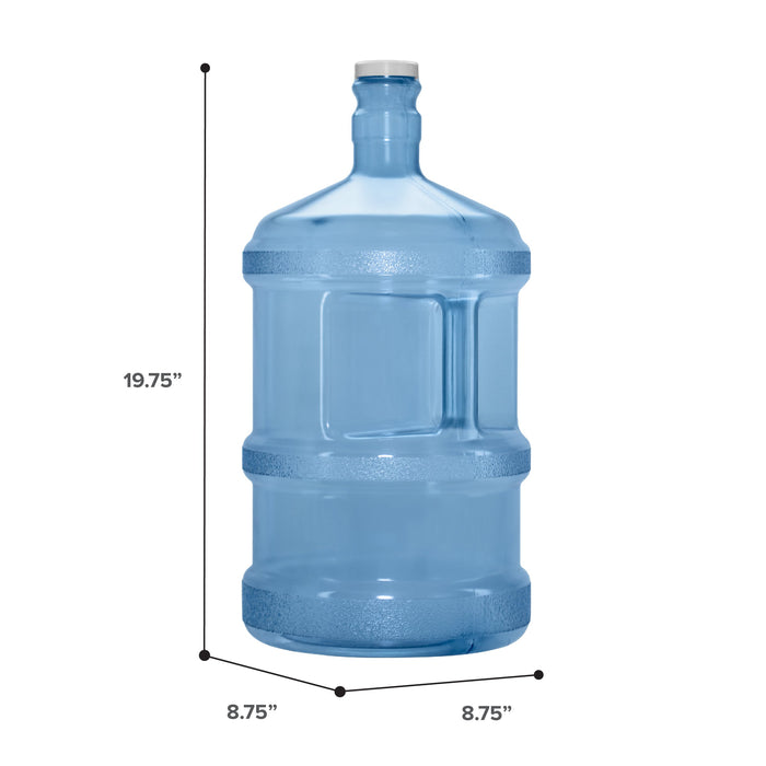 3 Gallon Polycarbonate Plastic Reusable Water Bottle with Screw Cap