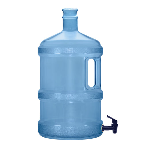 3 Gallon BPA Free Reusable Plastic Water Bottle Tall Crown Neck with Valve