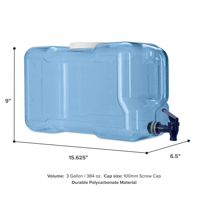3 Gallon Polycarbonate Plastic Reusable Water Bottle