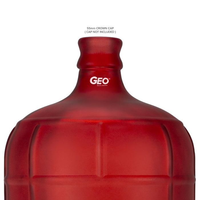 3 Gallon Frosted Glass Bottle, Water Bottle, GEO