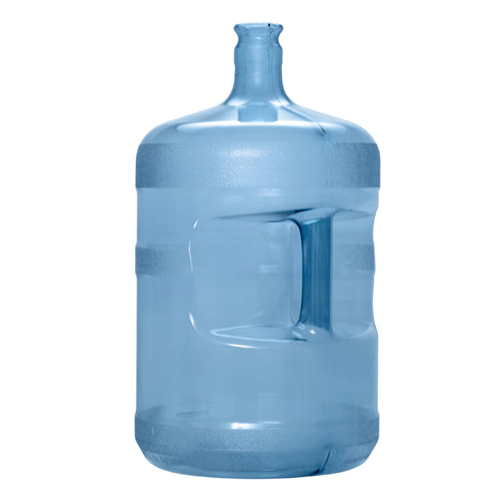 5 Gallon Polycarbonate Plastic Reusable Water Bottle with Crown Top.