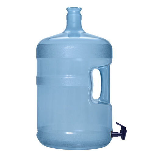 5 Gallon Polycarbonate Plastic Reusable Water Bottle with Crown Cap and Valve