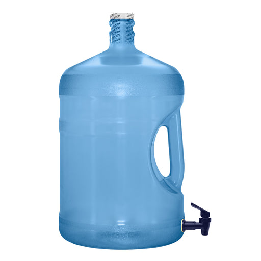 5 Gallon BPA Free Reusable Plastic Water Bottle with Crown Cap & Valve