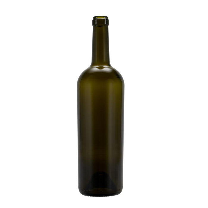 Brewing Glass Wine Bottle with Cork and Antique Finish