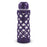24 Ounce Glass Water Bottle, Sports Bottle, with 40mm Plastic Cap and Protective Sleeve, GEO