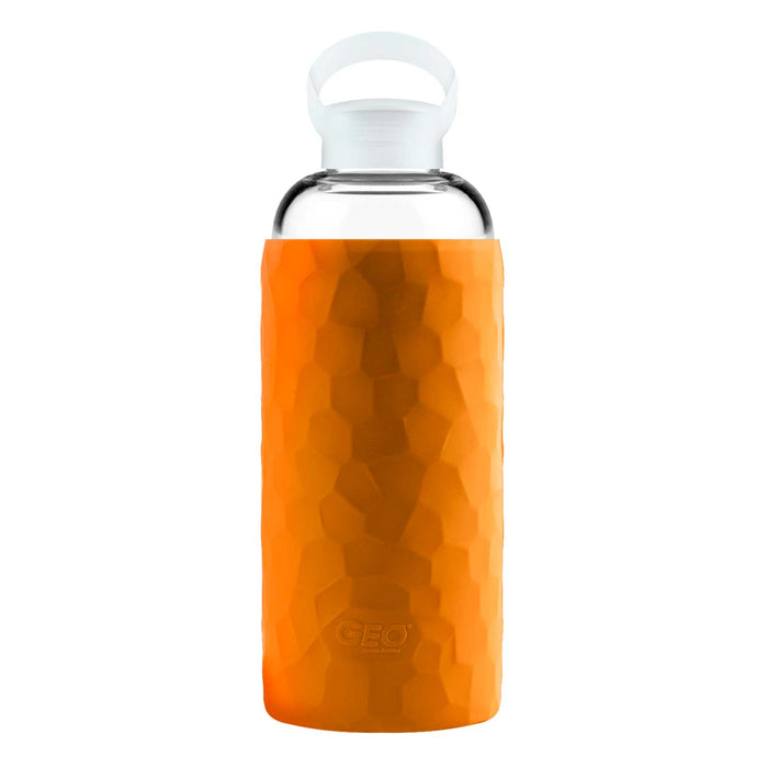 34 Ounce Glass Water Bottle, Sports Bottle, GEO