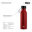 17 ounce Stainless Steel Water Bottle, Powder Sports Bottle, with 47 mm Steel Cap, GEO