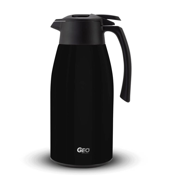 2 Liter Stainless Steel Coffee Carafe Pitcher, Coffee Dispenser, with 90 mm Screw Cap, GEO