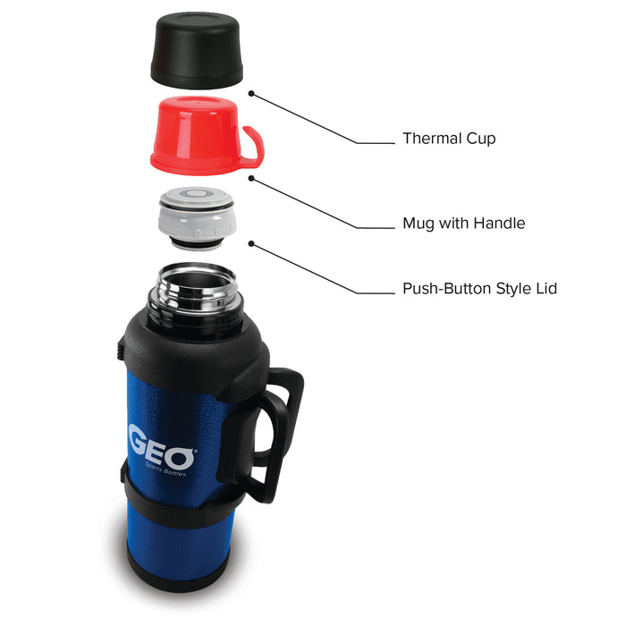 GEO 3.6 Liter Vacuum Insulated Thermos Flask w/ Portable Cup