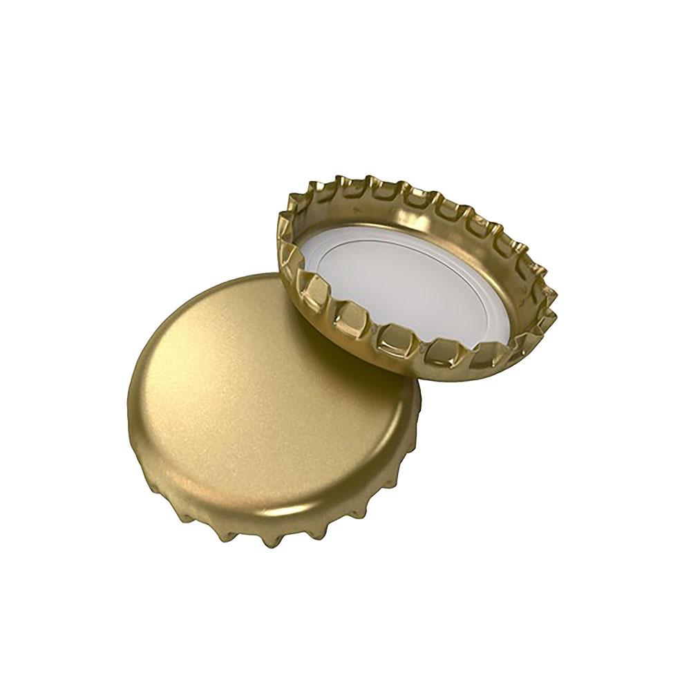 Gold Crimp Beer Cap, 26 mm