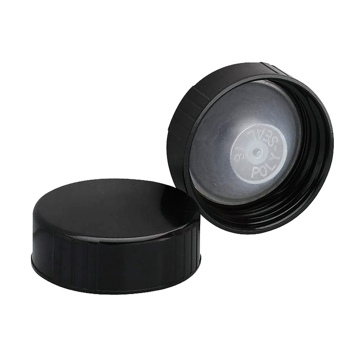 38MM Black Polyseal Cap