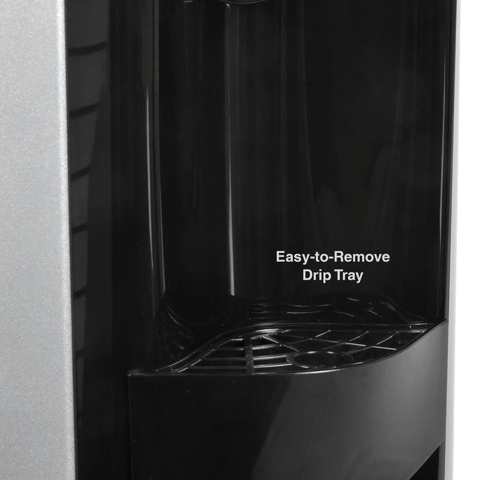 Hot and Cold Water Dispenser Cooler Top Load, Black and Brush Stainless Steel, Brio Premiere