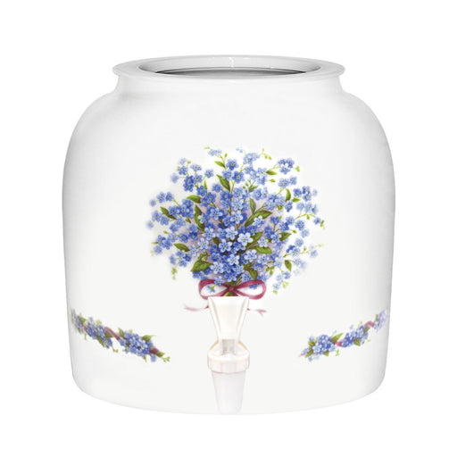 Blue Forget Me Not Porcelain Water Crock