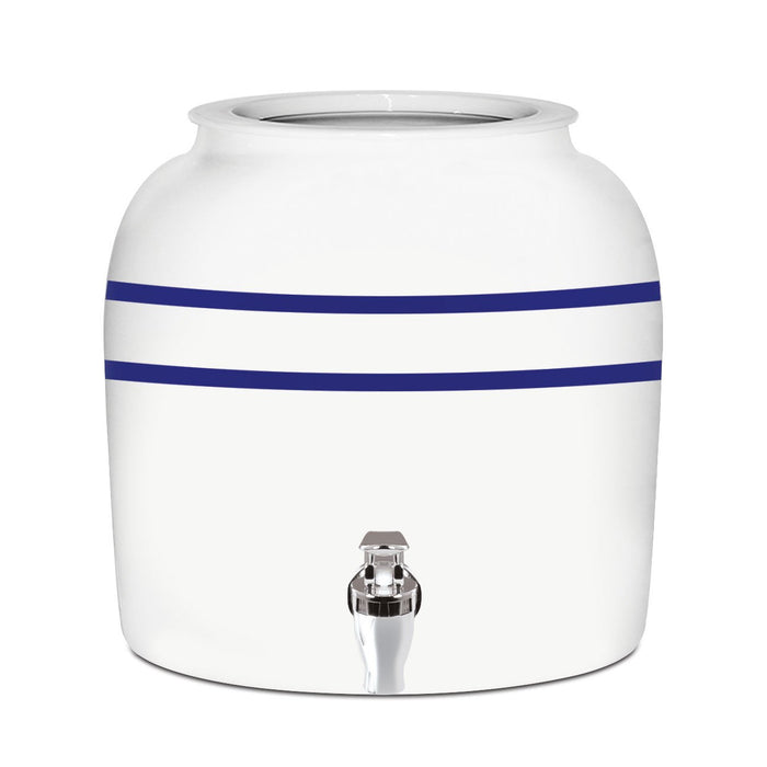 Striped Porcelain Water Crock