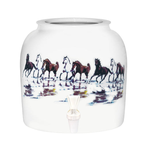 Horses Porcelain Water Crock