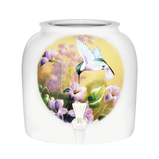 Hummingbird Porcelain Water Crock