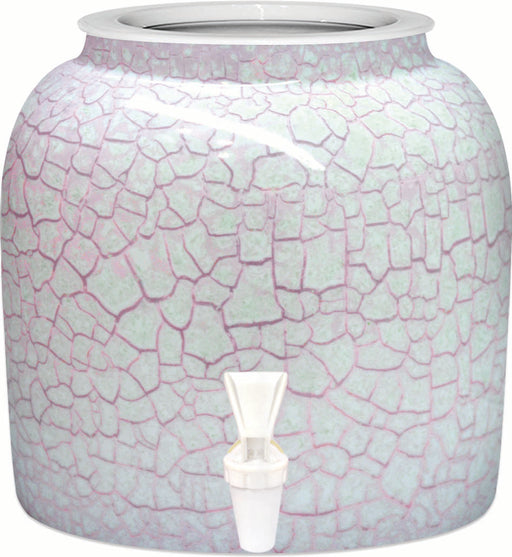 Red Marble Porcelain Water Crock