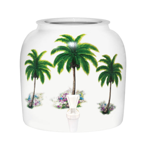 Palm Tree Porcelain Water Crock