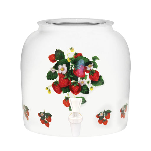 Strawberries Porcelain Water Crock