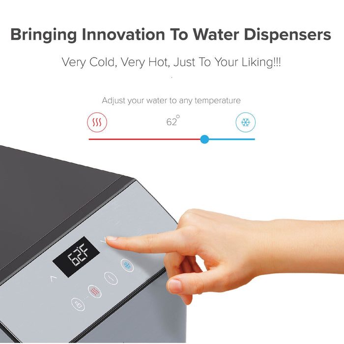 Brio Bottom Load Hot, Cold & Room Water Cooler - Self Clean Ozone - Tri Temp W/Touch Dispenser Feature