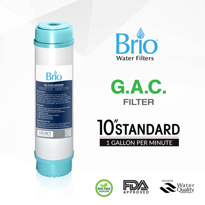 "Brio Legacy 2.5"" X 9.75"" Granular Activated Coconut Carbon Filter"