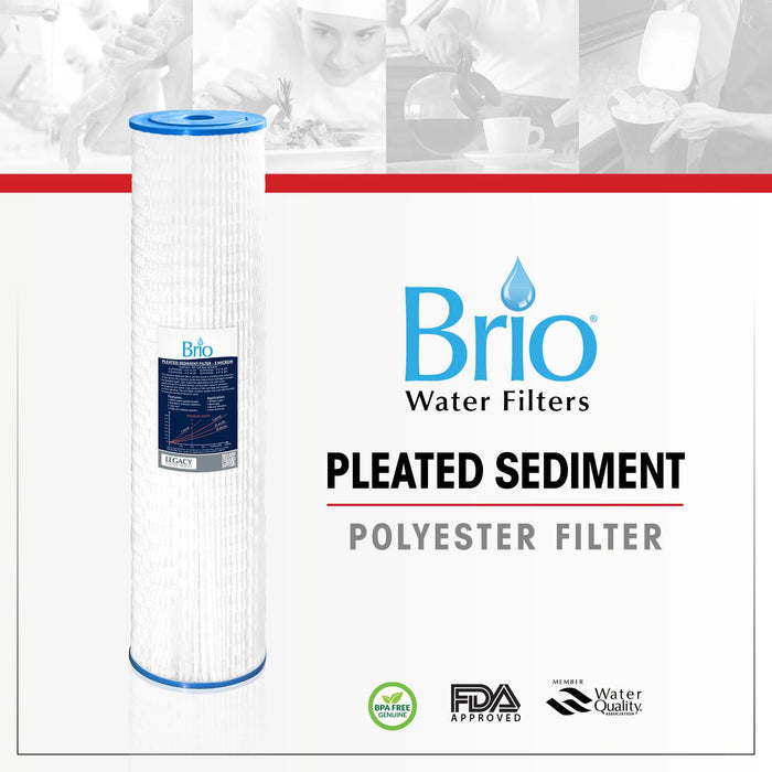 "Brio Legacy 5 Micron, 4.5"" X 20"" Pleated Sediment Pp Filter Replacement"