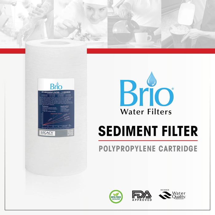 "Brio Legacy 1 Micron, 4.5"" x 10"" Sediment Pp Filter Replacement"