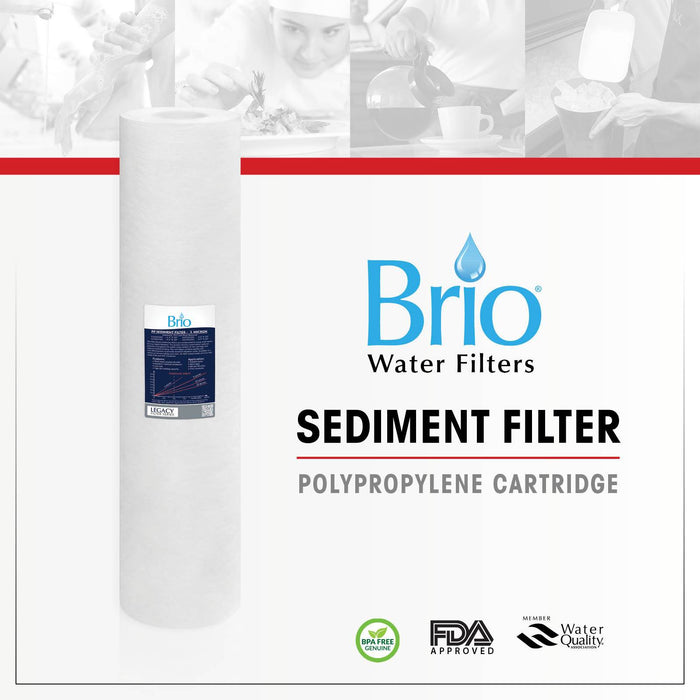 "Brio Legacy 25 Micron, 4.5"" X 20"" Sediment Pp Filter Replacement"